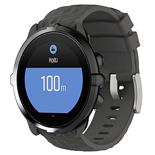 Correa de Reloj de Silicona Suave Compatible con Suunto 9/7 / D5i / Traverse/Spartan Sport Wrist HR Baro, Repuesto Ideal (Pattern 2)