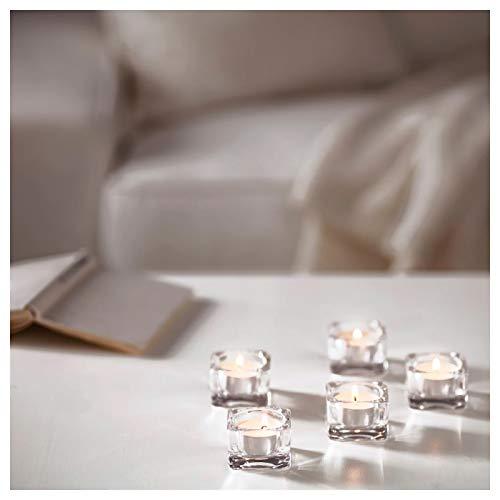 2 x 100 Velas Ikea Glimma Velas de Te - Blancas - Sin perfume. - 200 unidades.