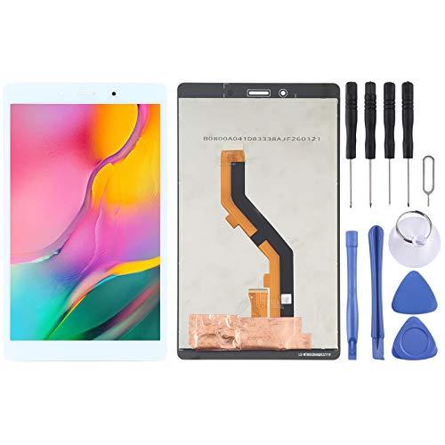 PANPAN Pantalla LCD Pantalla LCD y digitalizador Asamblea Completa Compatible para la lengüeta A 8.0 (2019) SM-T295 Piezas de Repuesto Compatible para teléfonos móviles (Color : Blanco)
