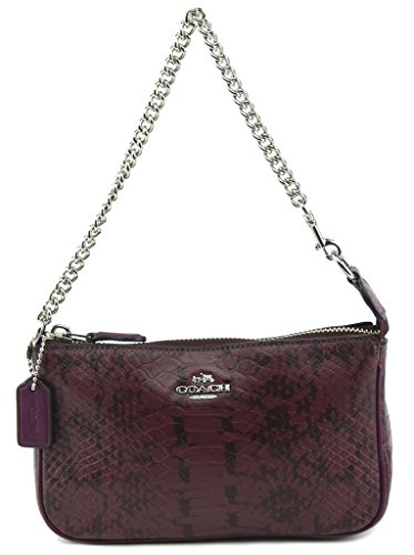 Coach Nolita Wristlet 19 in Exotic Embossed Leather, Style 64712, Light Plum