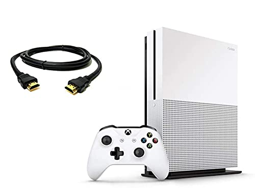 Microsoft Xbox One S 1TB Console, Version 2, with 1 Xbox Wireless Controller, 4K Ultra Blu-ray and 4K Video Streaming, Family Christmas Holiday, TWE 6 feet HDMI Cable (Renewed)