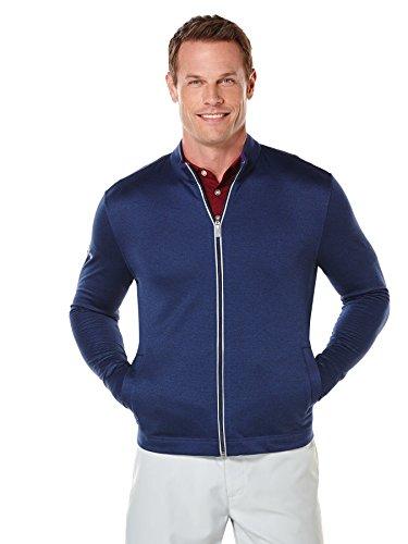 Best Buy! Callaway Men's Golf Full Zip Long Sleeve Waffle Knit Fleece Jacket