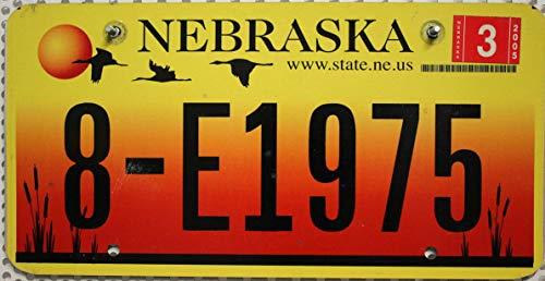 US Nummernschild NEBRASKA Kennzeichen // Motiv Schild : Kranich , Kraniche USA Blechschild