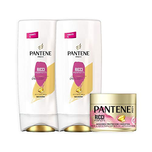 Pantene Pro-V Ricci Perfetti, Set Composto da 2 Balsamo Capelli 600 ml e 1 Maschera...