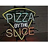 """""""Pizza by The Slice"""" Neon Ohlala Neon Light Sign Custom Name Beer Bar Home Decor Open Store Lamp Display 17""""X14""""."""