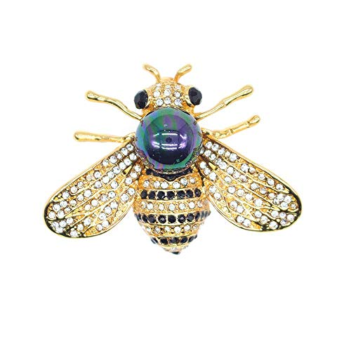 Honey Bee Brooches Crystal Insec...