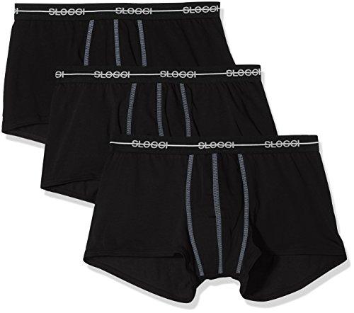 Sloggi for Men SLM Start Hipster C3p Braguita, Negro (Black 04), Small (Talla del Fabricante: 4) para Hombre