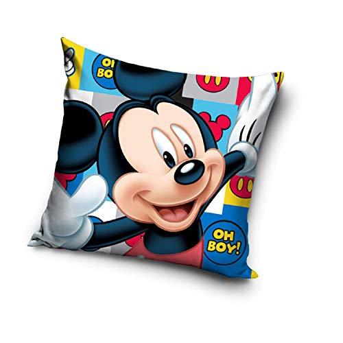 Viacom International Carbotex Stars Mickey Mouse | Kinder Kissen 40 x 40 cm | Disney Micky Maus | Dekokissen
