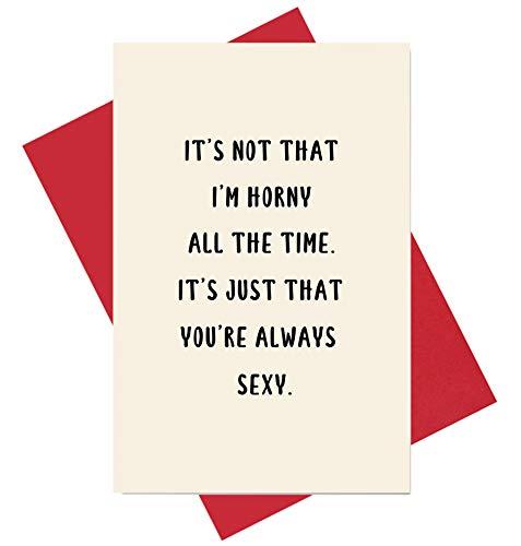 Sexy Karte, lustige Jahrestagskarte, Geburtstagskarte, Naughty Valentinstagskarte für Sie oder Ihn