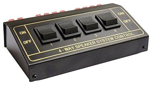 Good Connections Lautsprecher Umschaltbox / Switch zum Anschluss von 4 Paaren - Metallgehäuse - schwarz