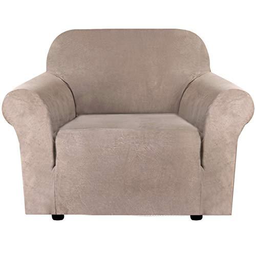 FEIGER Funda de sofá de Felpa de Terciopelo de Alta Elasticidad, Repelente al Agua, Protector de Muebles, Gamuza, Fundas de sofá para sofá, Terciopelo, Felpa, fácil AJ