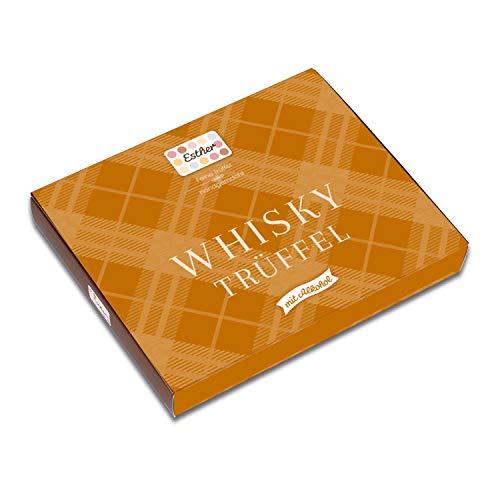 Esther Whisky Trüffel 16er Klassikpackung mit Alkohol 190g | Pralinen und Trüffel mit Whisky Geschmack | Geschenkidee für Geburtstag, Vatertag, Muttertag | Präsent für Opa, Papa, Freunde und Familie