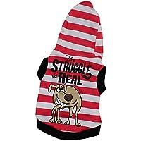 Fossrn Ropa Perro Pequeño Yorkshire Toy Chihuahua Mini Mascota Raya Camiseta con Capucha - The Struggle is Real
