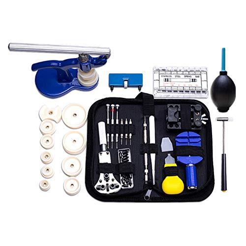Juego de herramientas para reparación de relojes, 406 piezas, herramienta de reparación de relojes