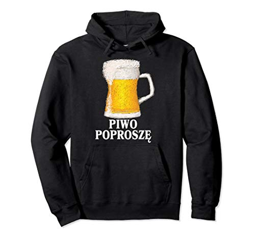 Bier Please Piwo Dyngus Day Geschenk für polnische Sprache Pullover Hoodie