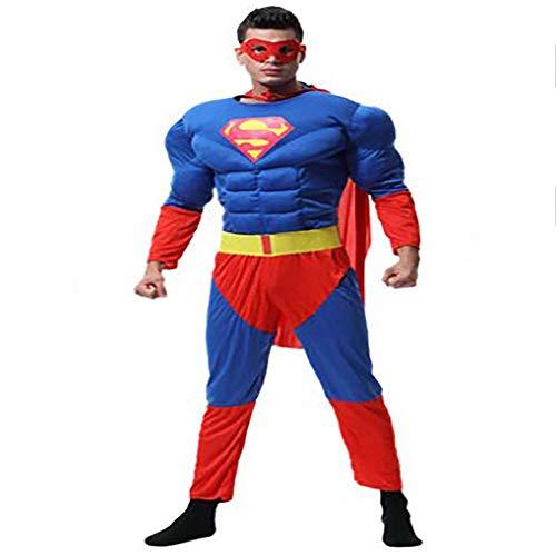 LI MING SHOP Disfraz De Halloween para Nios, Traje De Batalla De Iron Man, Ropa para Nio, Capa De Batman, Apto para Adultos Y Nios(Color:Superhombre,Size:l)