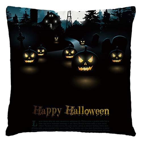 Fasclot Halloween Decorative Throw Pillow Covers Natural Linen Pillowcase for Sofa Home Home & Garden Pillow Case