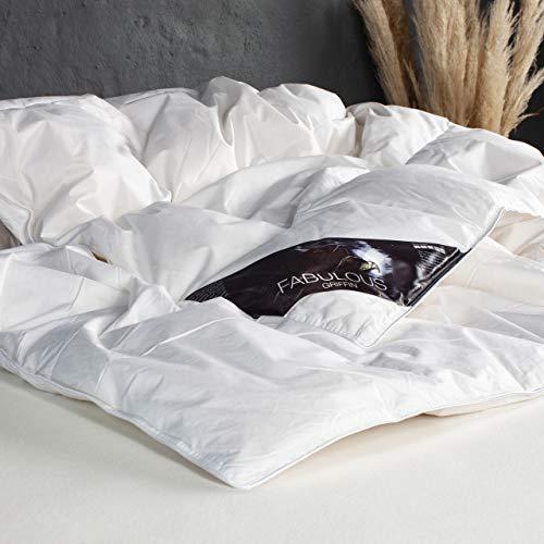 ARCTIC Edredón de plumón Griffin, para todo el año, con 90% de plumón de pato blanco, certificado DOWNPASS, Oeko-Tex Standard 100-140 x 220 cm, color blanco