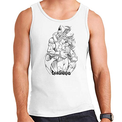 Demitri and Morrigan Darkstalkers Logo Men's Vest