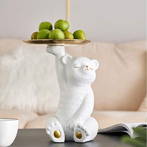 YUTRD ZCJUX Piastra di Frutta Stile Minimalista Moderno Creativo Domestico Soggiorno tavolino tavolino Cabina Cabina Vassoio Ingresso Chiave Porta Vassoio Decorazione
