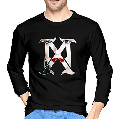 QDGERWGY Madonna-Madame-X - Maglietta a maniche lunghe da uomo, stile classico, a maniche lunghe, in cotone, Nero , S