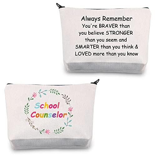 Schulratgeber Geschenke Schulratgeber Make-up-Tasche Schulratgeber Wertschätzung Geschenke Schulratgeber Tasche Kosmetiktasche Reise Reißverschlusstasche, School Counselor Bag,