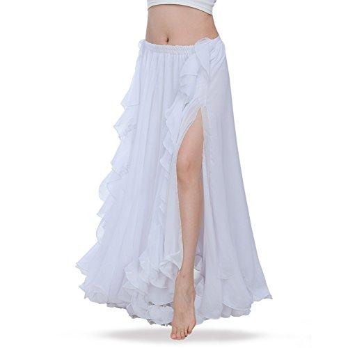 ROYAL SMEELA Falda Danza del Vientre Mujer Traje de Falda largas la Danza del Vientre Vestido Falda chifn de prctica de Baile Ropa de Rendimiento Falda Flamenca Disfraz Mujer