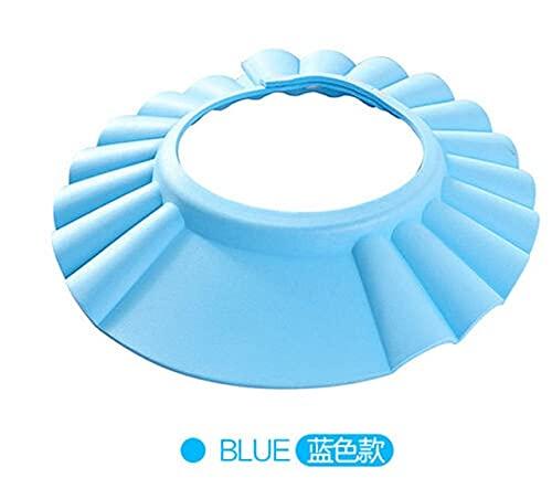 Beb nios champ Suave Ajustable Gorro de Ducha de bao champ para nios Cabeza a Sombrero de Ducha de beb Gorro de bao para nios Visera de bao-Blue
