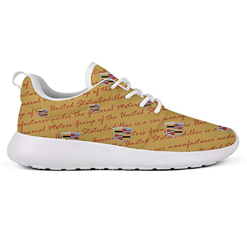 Men's Canvas Casual Cadillac-for-Sale-Vehicles-Yellow-Logo- Sneakers Basketball Shoes