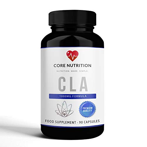 CLA (Conjugated Linoleic Acid) - 3000mg - 90 Capsules - Weight Management - Appetite Aid- Core Nutrition UK