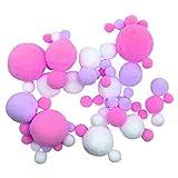 Dapei Fluffy Slime Zubehör Farbmischung Garn Ball Bunt Stress Ball Komisch Stressabbau Spielzeug...