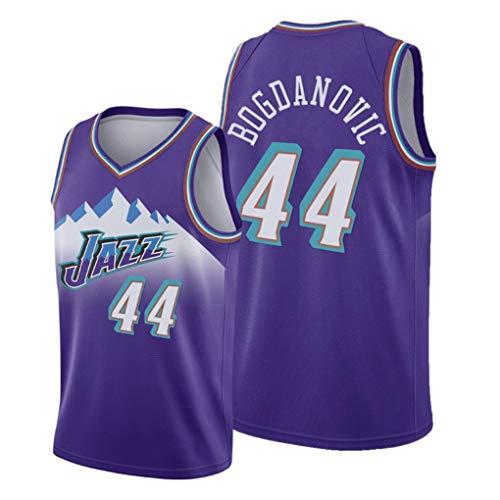 WSF Jersey # 44 Bogdanovic, Utah Jazz Team, Herren-Basketball-Trikots, New Stoff Unisex Sleeveless T-Shirt, Basketball-Trikot Swingman Anzug Lila (Color : Purple, Size : XS)