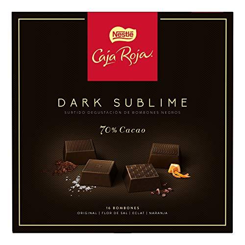 Nestlé Caja Roja Dark Sublime Bombones de Chocolate 114 g - Pack de 8 cajas
