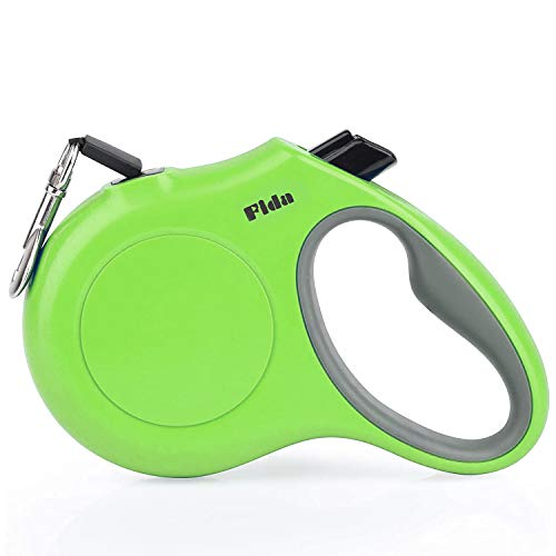 Fida Retractable Dog Leash, 16ft Heavy Duty Pet Walking Leash for Medium Dog or Cat up to 44 lbs, Tangle Free. One-Hand Brake (Medium, Green)