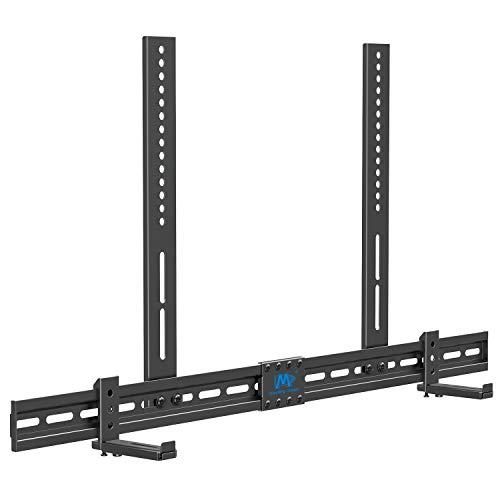 Mounting Dream Universal Soundbar Halterung für Soundbars mit/ohne Montageloch, mit Anti-Rutsch-Sockelhalter (87.5-154mm), an TV-Halterung, Wand oder Fernseher montieren MD5425-03