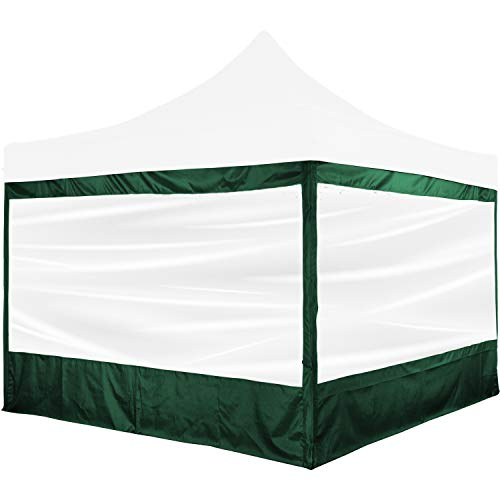 INSTENT® Pro Seitenwand/Seitenteil für Pavillon 3x3m mit XXL Panorama Fenster oder Reißverschluss, wasserabweisend und atmungsaktiv, Farbwahl, für Festzelt, Partyzelt