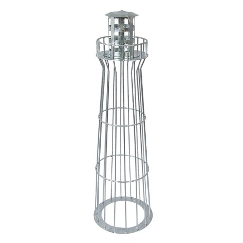 Design Leuchtturm für Ihren Vorgarten 100cm, feuerverzinkt maritime Dekoration für ihren Garten