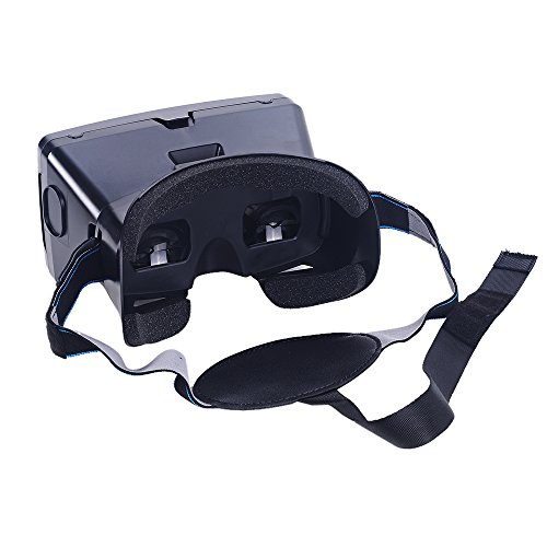 Andoer Portable Plastic Version 3D VR Glasses Virtual Reality DIY 3D Video VR Glasses with Magnetic Switch Hand Belt for All 3.5~6.0' Smart Phones