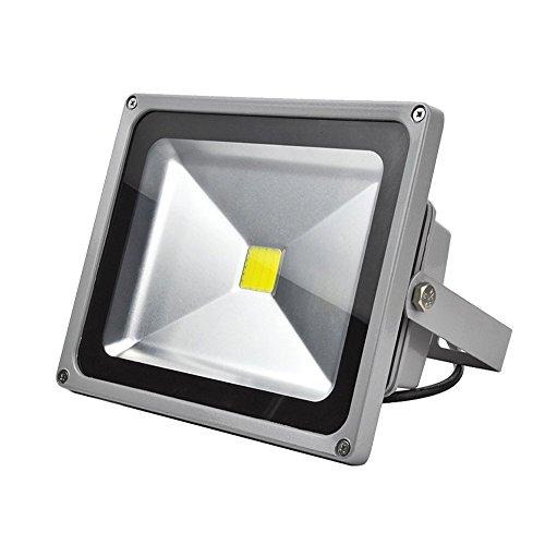 GRG Faretto LED 30W da esterno IP65 a luce calda 3000k, Proiettore Led COB ad alta potenza con riduzione dei consumi del 90% e durata di 50000 H. Faro Led ad alta versatilità.