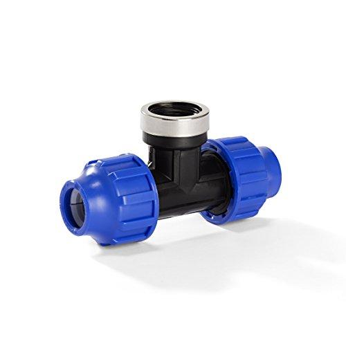 H2O-Flex PP-Fitting, Klemmverbinder - 20er T-Stück mit 1/2