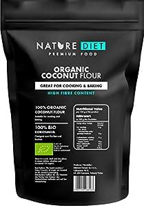 Nature Diet - Harina de coco orgánica 1000g | Sin Gluten | Libre de OMG | Para hornear