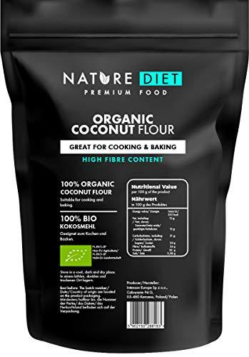 Nature Diet - Farina Di Cocco Biologica 1000g | Senza Glutine | Senza OGM | Per la cottura