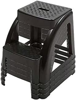 2-Step 300 Pound Capacity Durable Utility Step Stool - Black (4)