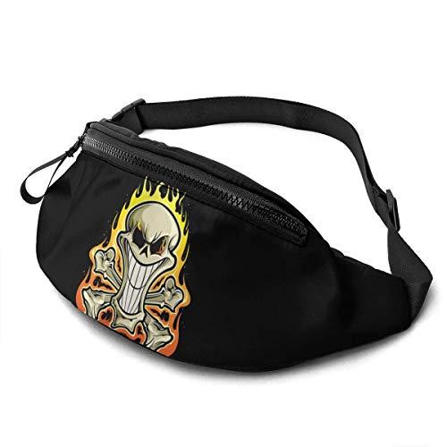HOIH Skull Head Unisexe Running Waist Packs Sac de Taille décontracté, Randonnée Sport Fanny Packs Transportant