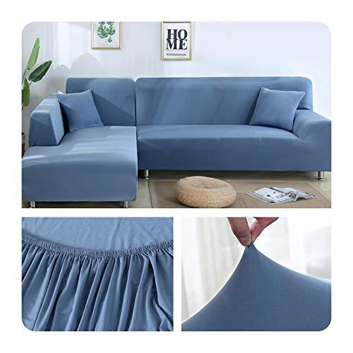 ZaHome Funda elástica de sofá para sala de estar, esquina en U, funda de sofá todo incluido, fundas de sofá en forma de L necesitan comprar 2 piezas - 018-1 plaza (90-140 cm)