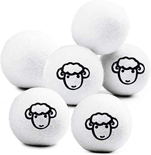 Sweetone 6 Bolas de Secadora de Lana,Bolas de Secadora hipoalergénicas, Reutilizable,Novedad Bolas para Secadora de Lana con Aceite con Perfume,Pelotas de 100% Lana para Uso en Secadora