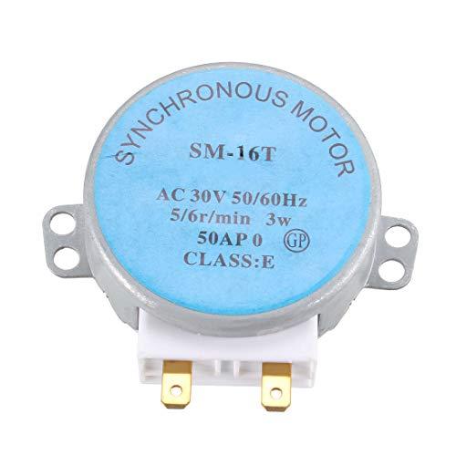 sourcing map a12090300ux0828 - Sm-16t ac 30v 3.5 / 4w 5 / 6rpm motor síncrono para el horno microondas