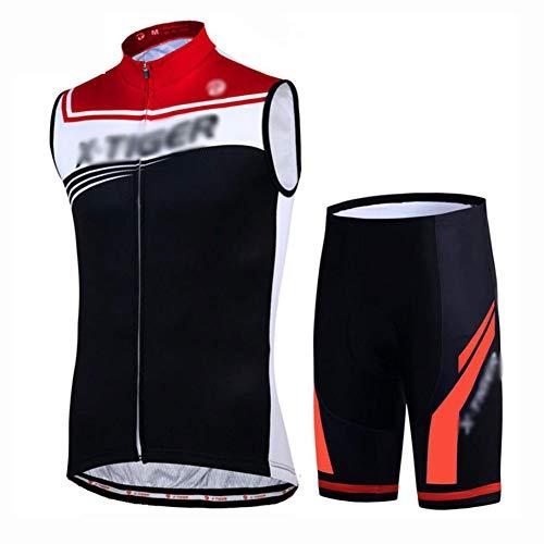 YXX Maillot Ciclismo Hombre Ropa Bici Camiseta Sin Mangas Jersey De Ciclismo...