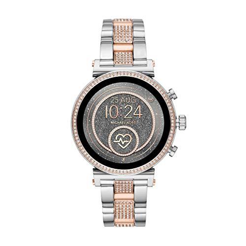 Michael Kors Smartwatch Pantalla táctil para Mujer de Connected con Correa en Acero Inoxidable MKT5064