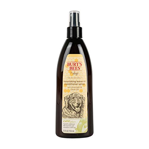 Burt's Bees for Pets Dogs Care Plus Natural Nourishing Leave-In Conditioner Spray With Avocado and Olive Oil, 12 Ounces (FF8803)